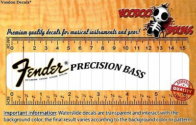 Fender Precision Bass Restoration Waterslide Decal