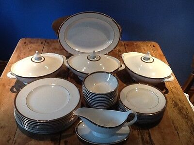 """M&S dinner service, """"Connaught"""", by Royal Doulton,10 place settings, unused"""
