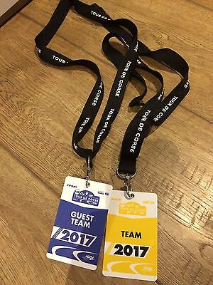 Tour de Corse 2017 World Rally Championship (WRC)- Team Lanyards and passes-Rare