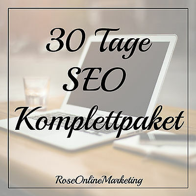 30 Tage SEO - Social Media Marketing - Linkaufbau - Backlinks - high PR