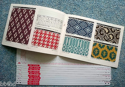 Knitting Machine Punchcards with Pattern Book Series 51 Cards 221 to 230 New
