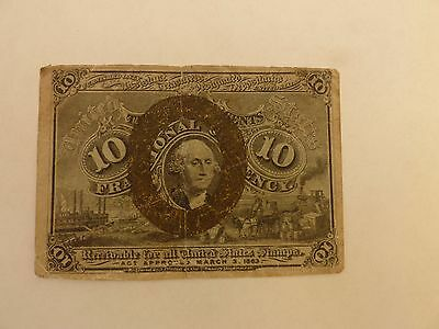 Bank Note- U.S.A -10 cents-Fractional currency-1875