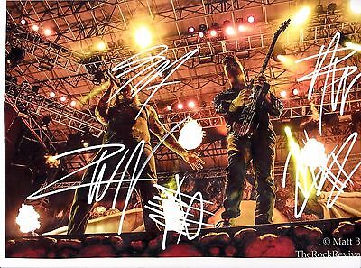 Avenged Sevenfold Fully Signed 8x12 Col Photo Signed Comes With coa