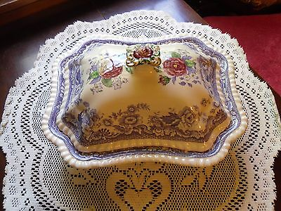 """Copeland Spode 2/8772 England MAYFLOWER Covered Footed Vegetable Bowl 11"""" x 9"""""""
