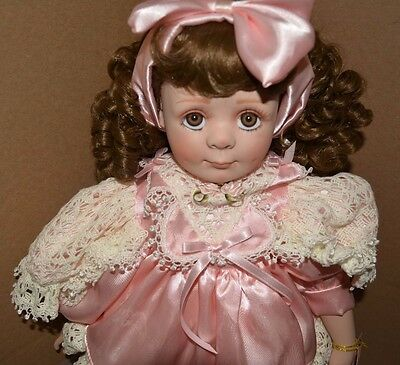 Show Stoppers Porcelain Doll Susie by Florence Maranuk Hand Painted 20 In Tall