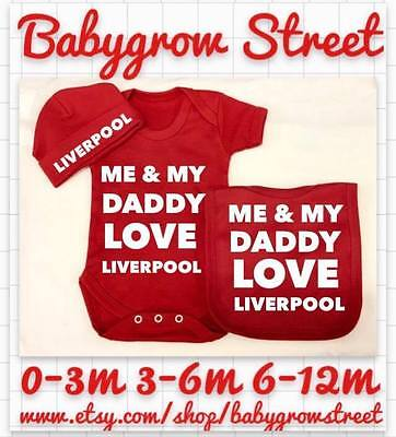 ME /& MY DADDY GRANDAD AND UNCLE LOVE LIVERPOOL BODYSUITS football team boy