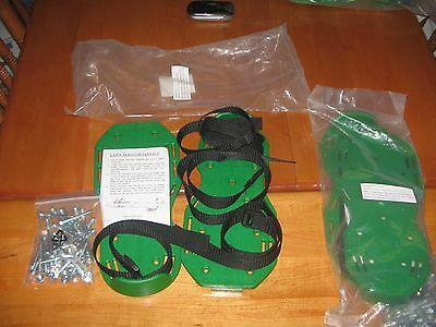 Lot Of 2 Pair New Grass Lawn Sod Walking Aerator Spike Shoes Sandal Garden Tool