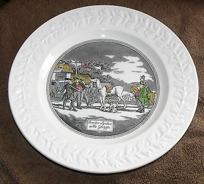 Vintage Adams Ironstone Dr Syntax Plate