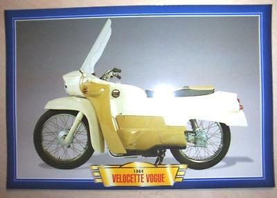 Velocette Vogue Flat Twin Classic Motorcycle 1964 Bike Picture Print 1960's