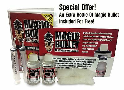 Twin Magic bullet printhead cleaner and unblocker Kit