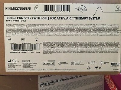 KCI 300 mL Canister w/ Gel ActiV.A.C. Therapy System #M8275058/5 case of 5 #3