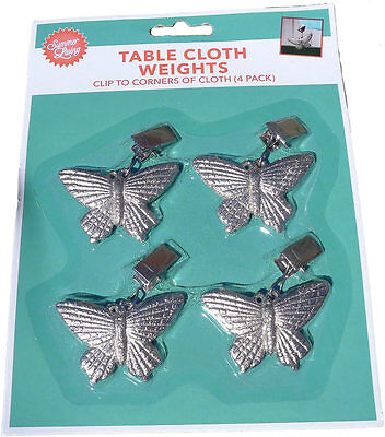 New Butterfly Table Cloth Weights x 4 Pack