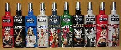 "Playboy ""Мyagkov"" 10 empty bottles of vodka original limited edition Russia"
