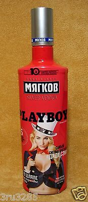"Playboy ""Мyagkov"" empty bottle of vodka original limited edition 2015 Russia"