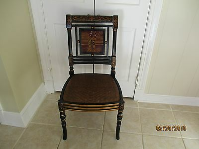 Antique Side Chair -- Possibly British Regency or Chinese Deco, Chinoiserie