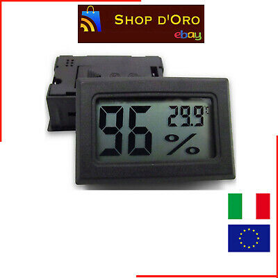 Mini Termometro Digitale Acquarium Thermometer LCD Per Terrario Acquario 10048