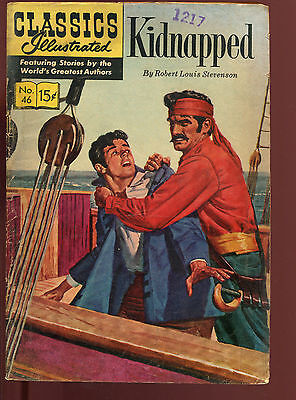 Classics Illustrated 46 Hrn 140 Kidnapped Robert Louis Stevenson 15 Cent V.g.-