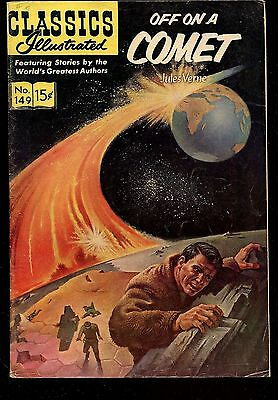 Classics Illustrated # 149 Hrn 149 Off On A Comet Jules Verne Original 15 Cent