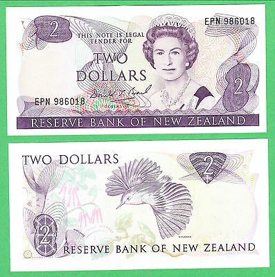 New Zealand 2 Dollar Note P-170c   UNCIRCULATED