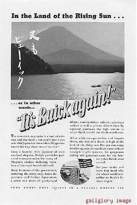 1937 Buick Automobile Vintage Magazine Print Ad   Your Money Goes Farther