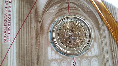 SAN MARINO 2005 MONETA 2 EURO COMMEMORATIVO GALILEO GALILEI in FOLDER UFFICIALE
