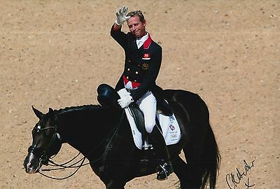Carl Hester Hand Signed 12x8 Photo Team GB Olympics 6.