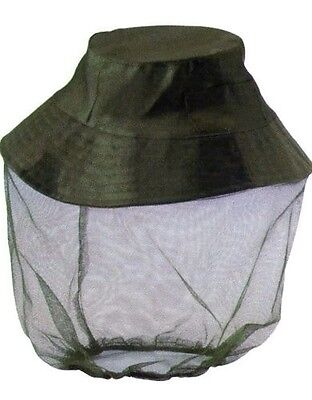 Mosquito Midge Bug Hat With Fine Mesh Net Childs Size Medium 53cm Circumference