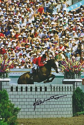John Whitaker Hand Signed 12x8 Photo Team GB Olympics 8.