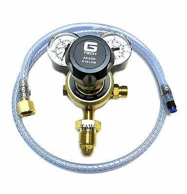 Argon/Co2 Mig Welder 2 Gauge Regulator and mini mig adaptor hose