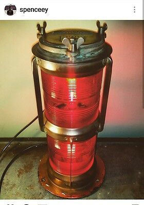 Vintage one off emergency Marine ship light restored