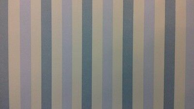 Dolls House Emporium Wallpaper 1:12th Scale Blue Wide Stripe WallPaper 5828