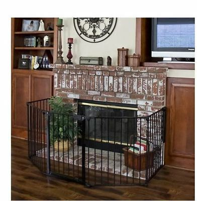 New Baby Infant Safety Fence Hearth Gate BBQ Fire Gate Fireplace Metal Plastic