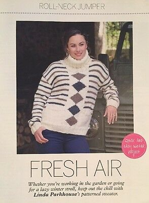 Fresh Air - Patterned Sweater Knitting Pattern