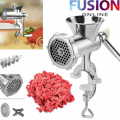 Meat Mincer Heavy Duty Grinder Manual Hand Operated Kitchen Beef Sausage Maker