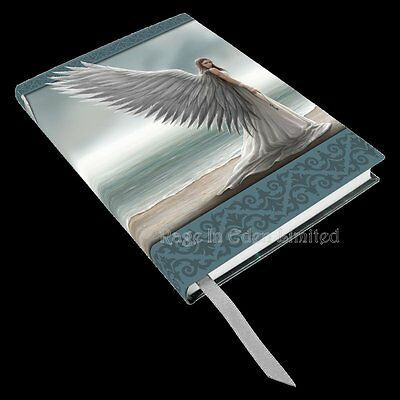 *SPIRIT GUIDE* Anne Stokes Angel Art Embossed Hardback Notebook Journal (17cm)