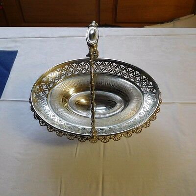 Antique Rogers Smith & Co.  New Haven Silver Plated Oval Basket  Must See !!