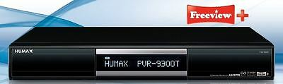 Humax PVR-9300T 320 GB Hard Drive Twin Tuner Recorder, Remote Control + Freeview