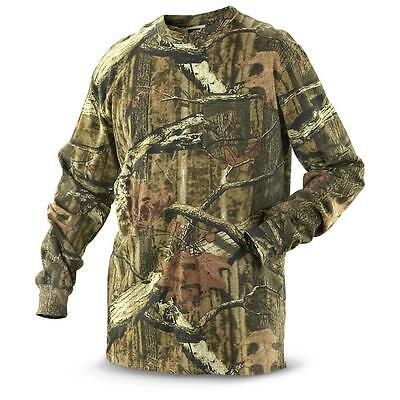 Mens Camouflage Camo Real Tree Jungle Forest Print LONG Sleeved T Shirt S-5XL