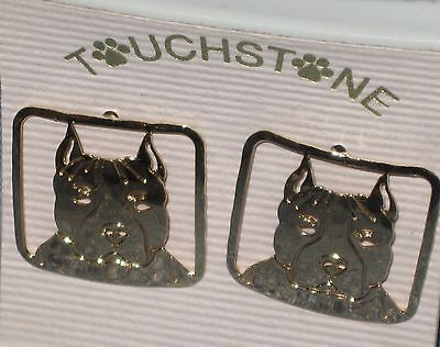 American Staffordshire Terrier Earrings by Touchstone Jewelry