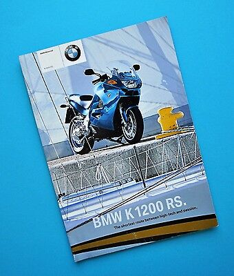 Original Factory 2004 BMW K1200RS Motorcycle Brochure Book