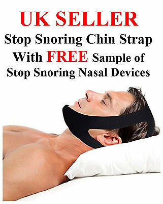 UK SELLER     STOP SNORING CHIN STRAP Anti Snoring Chin Strap, Adjustable NEW
