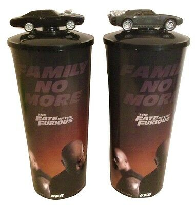 Fast and the Furious 8 Movie Theater Exclusive Cup Topper Set with 44 oz Cups