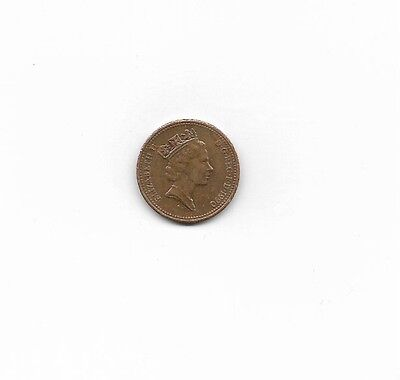 Great Britain Coin, 1990, 1 penny, circulated