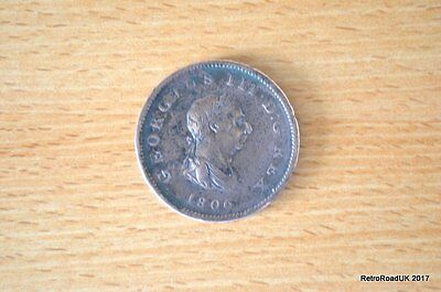 George III One Penny Coin Dated1806 - Britannia