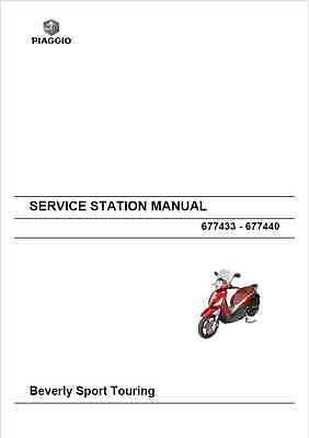 Piaggio Beverly Sport Touring 350 Service Station Manual 2012- (B99)