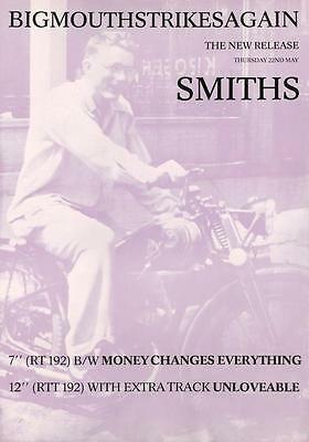"""The Smiths """"Big Mouth Strikes Again""""1986 POSTER Morrissey Johnny Marr James Dean"""