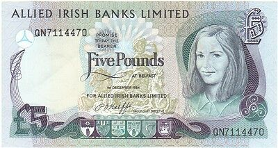 Allied Irish Banks Ltd. £5 Dated 1984, About Uncirculated