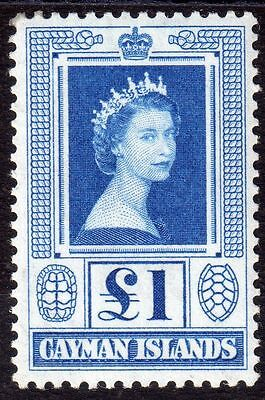 Cayman Islands Sg161a £1 Blue in P.O. Fresh  mint never hinged