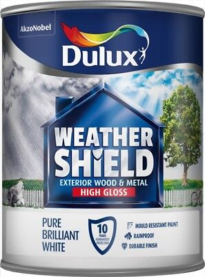 Dulux Weathershield Exterior Quick Dry Gloss 750ml Pure Brilliant White Paint