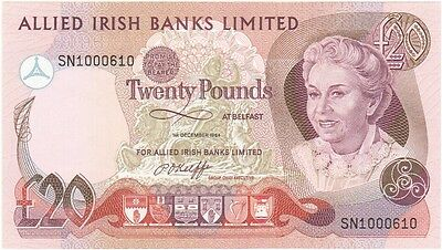 Allied Irish Banks Ltd. £20 Dated 1984, Uncirculated